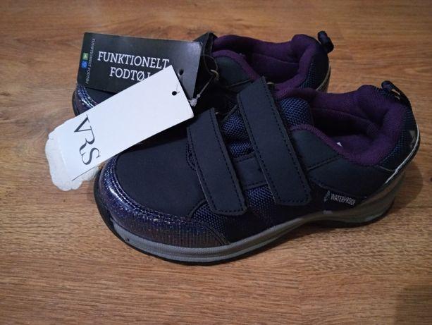 Buty dziewczęce na rzepy elementy holograficzne