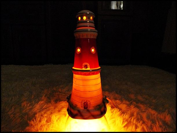 Kolekcjonerska lampka nocna - Stara Latarnia morska Prawdziwe CUDO!