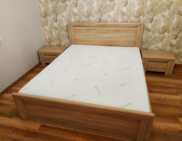 Łóżko,materac,komoda,dwie szafki nocne.Meble sypialniane/do sypialni