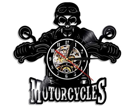 Relógio Parede vinil Vinyl Motorcycles Moto Mota Motard Novo Bar
