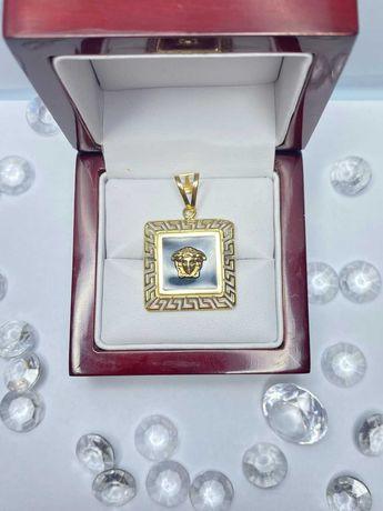 okazała złota zawieszka Versace p585 14k 4,60g