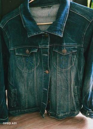 Куртка джинс шикарная облегченная р.60-64