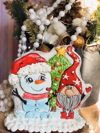 Имбирные пряники печенья к Новому году.