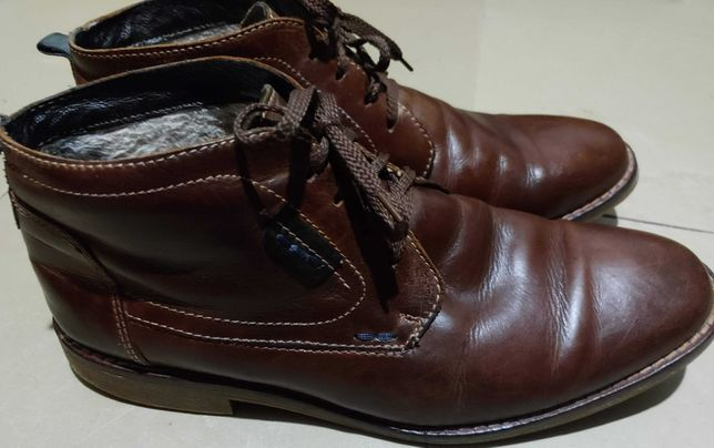 ботинки зимние 44р 28,5см нат. кожа