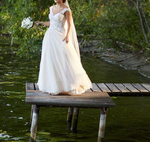 Piękna suknia ślubna Annais OLA LA KOLETTA rozmiar 38