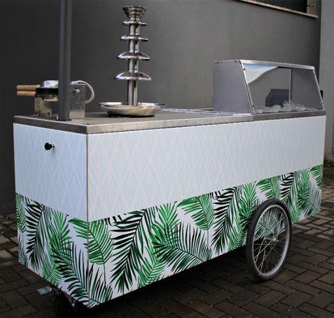 Carrinho Venda Ambulante Gelados/Bubble Waffle c/ Fonte de Chocolate