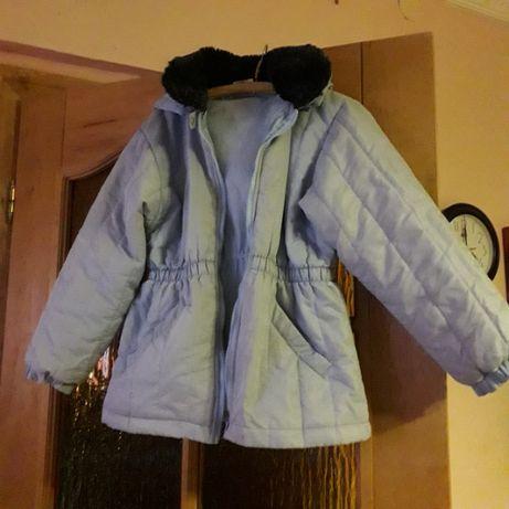 Kurtka jesienno-zimowa, spodnie jeansowe roz. 158 czapka gratis!!!