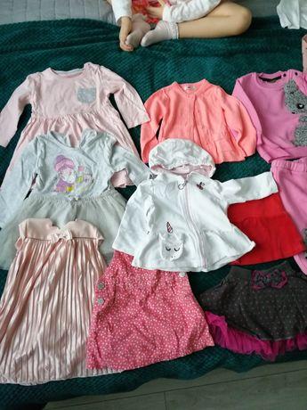 Ubranka dziewczynka 60szt jesień-zima 9-12m