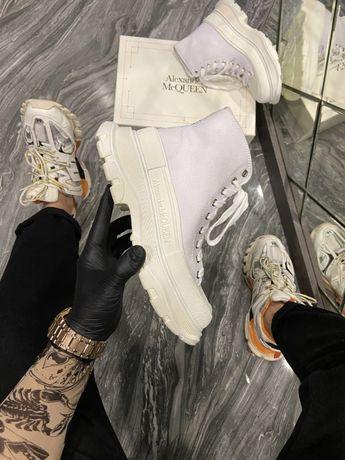 Ботинки McQueen Tread Slick White | черевики Женские маквин