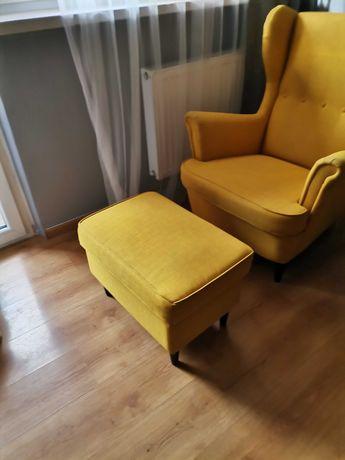 Fotel Ikea z podnóżkiem