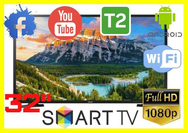 АКЦИЯ!Телевизор Samsung 32 дюйма SMART TV FULL HD T2 телевизор самсунг