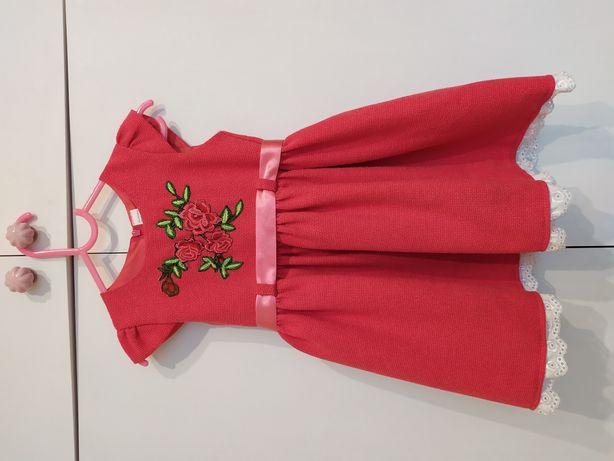 Sukienka z aplikacją góralska folk rozm. 98 h&m