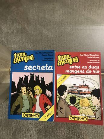 """Livros Uma Aventura - """"Secreta"""" e """"Entre as duas margens rio"""""""