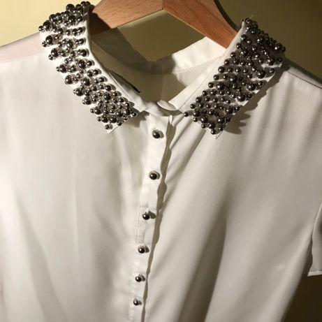 perełki, kamyczki, kryształki, perły, zara, koszula