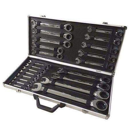 Jogo de 22 chaves boca-luneta com roquete JBM da 6 á 32 mm