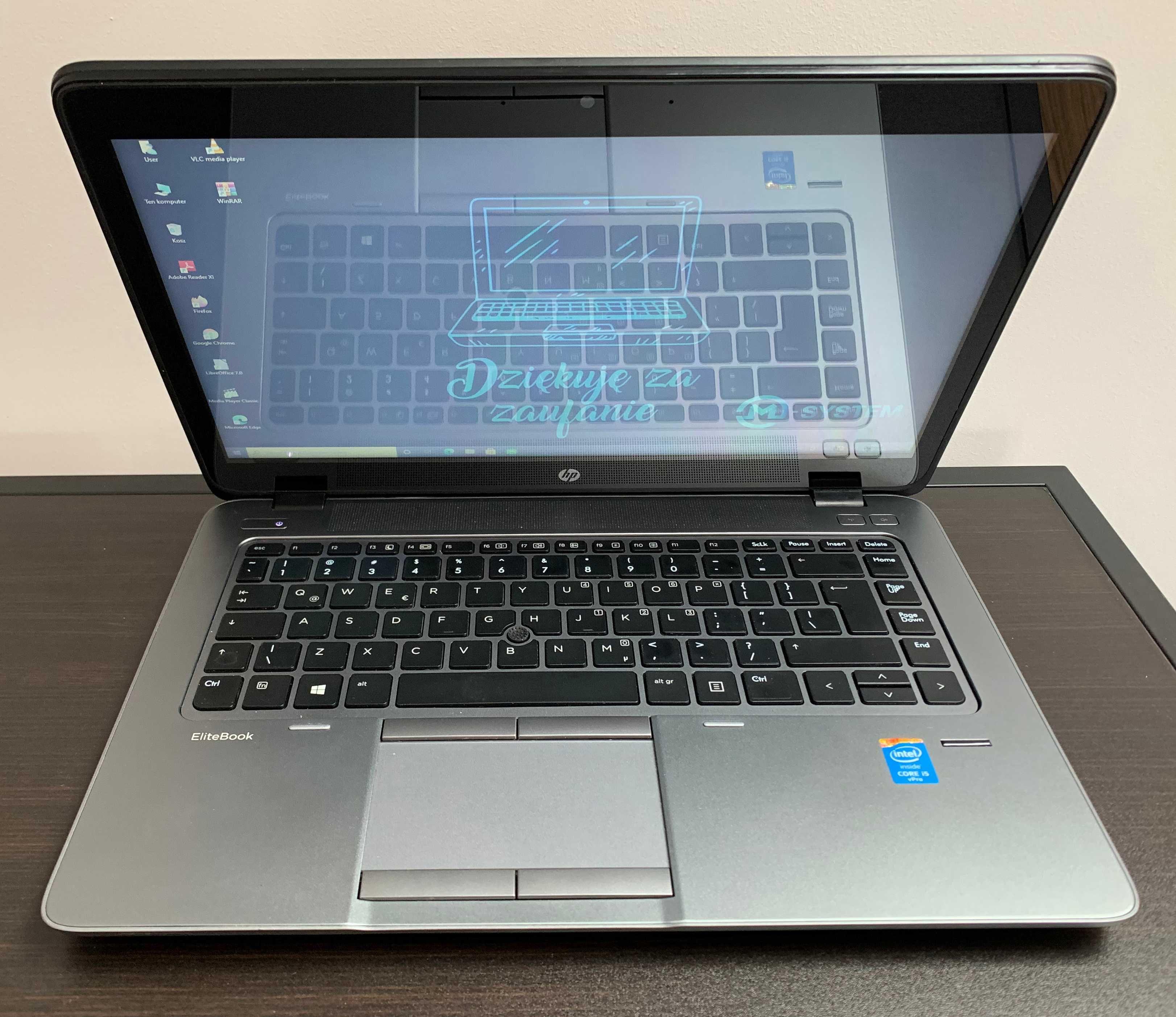 Laptop HP Elitebook 840 g1 14 Intel i5 8GB 240 SSD W10 dotyk