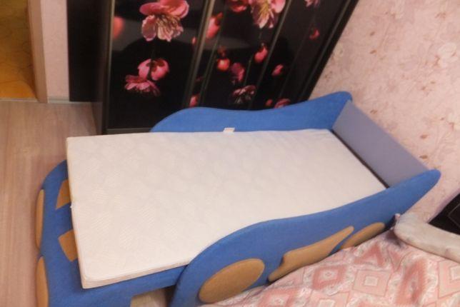 Детский диван - кровать Машинка (+ детский матрас Come-for)