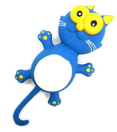 Zabawka gumowa lateksowa piszczałka dla psa gryzak kot z ogonem 24cm