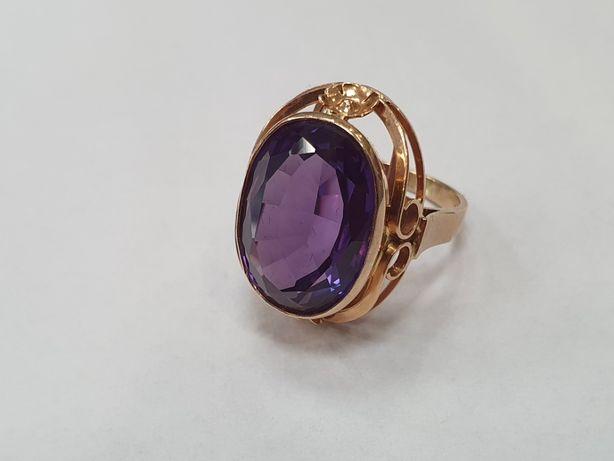 Piękny! Retro! Złoty pierścionek damski/ Aleksandryt/ 585/ 8.9g/ R17