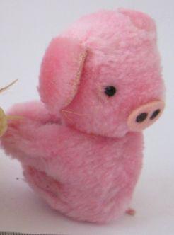 свинка мягкая игрушка мех держится лапками розовая свинья поросенок