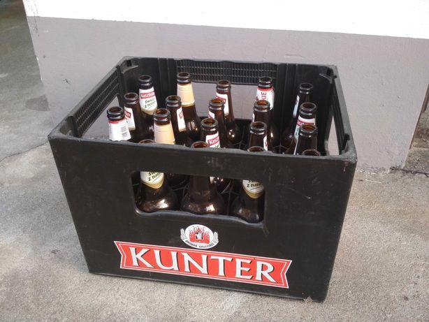 Skrzynka krata na piwo z butelkami