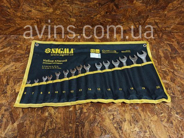 Профессиональный набор ключей рожково-накидных 15шт 6-22мм satine