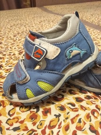 Кожаные сандалии, босоножки