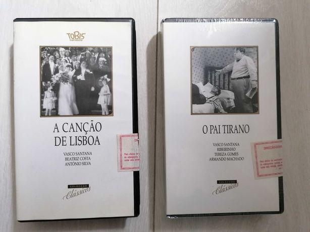 Cassetes VHS - A Canção de Lisboa / O Pai Tirano