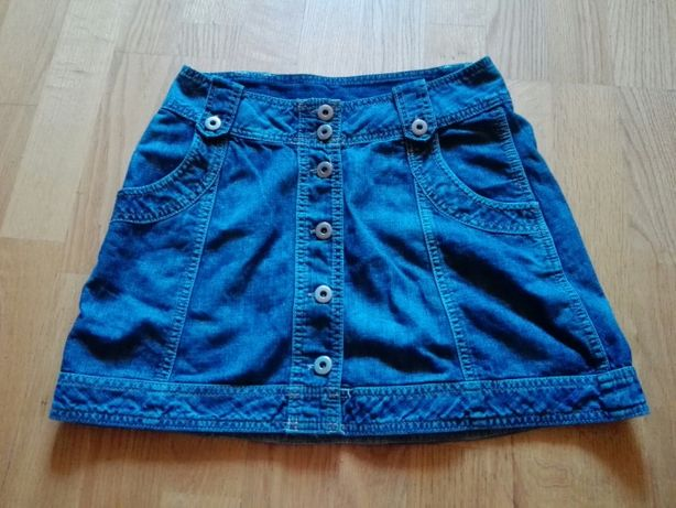 Krótka spudniczka jeansowa