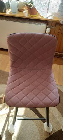 Krzesło hoker barowy różowy  2 sztuki 71 cm różowe krzesla