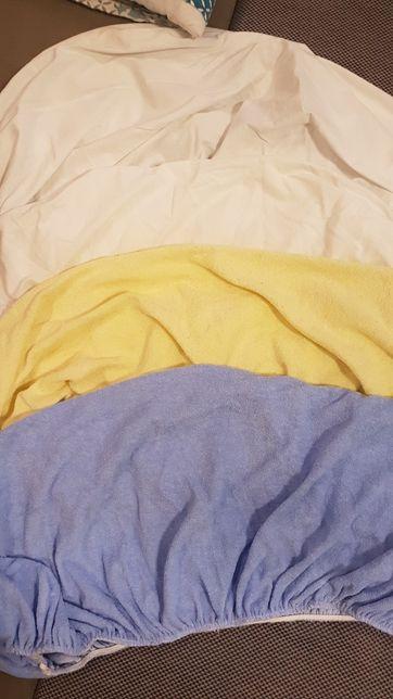Prześcieradło z gumką do kołyski łóżeczka 90x40 bawełna frotte