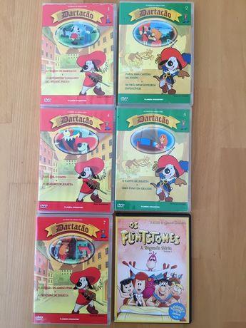 Pack 5 DVD os Mosculteiros + 1 DVD Flintstones
