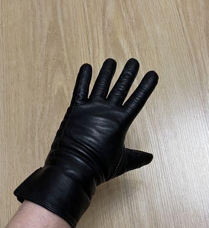 Перчатки кожаные зимние