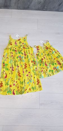 Набор платья мама дочка, family look, одинаковые платья