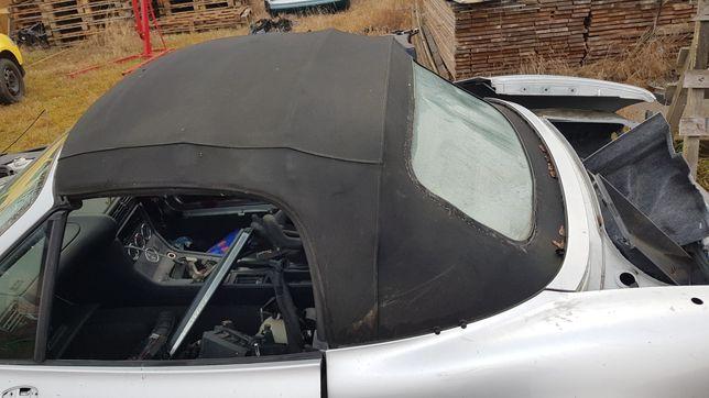 Dach bmw z3 ładny polift czarna podsufitka nowa szyba plexa