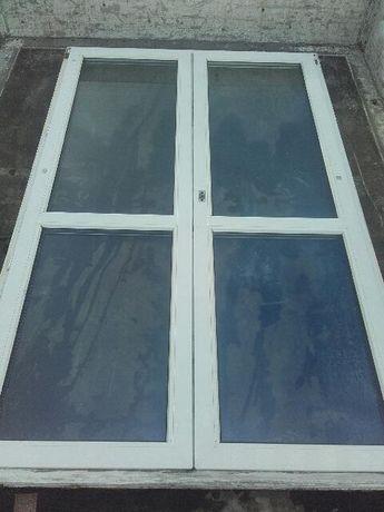 Okno tarasowe PCV z demontażu  o wymiarach 1240 na 1410