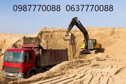 Песок, щебень, глина, шлак, граншлак, отсев, камень бутовый, чернозем