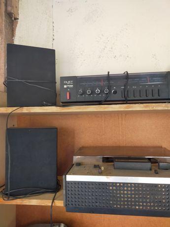 Stary sprzęt stereo elektronika wzmacniacz, radio