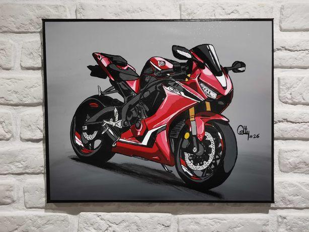 Obraz ręcznie malowany Honda 600 cbr 1000