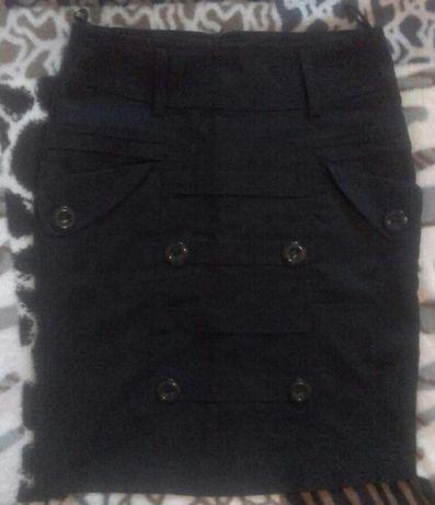 Юбка черная прямая