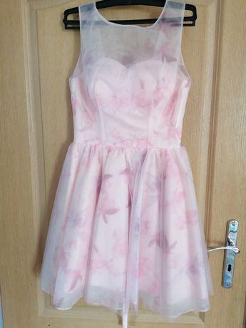 Sukienka  S  jasny róż, tiul