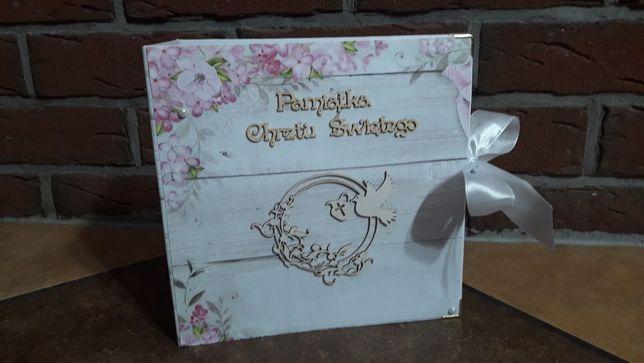Album prezent na chrzciny ręcznie robiony scrapbooking