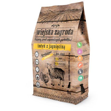 Karma Dla Psa Wiejska Zagroda indyk z jagnięciną 9 kg Wysyłka GRATIS
