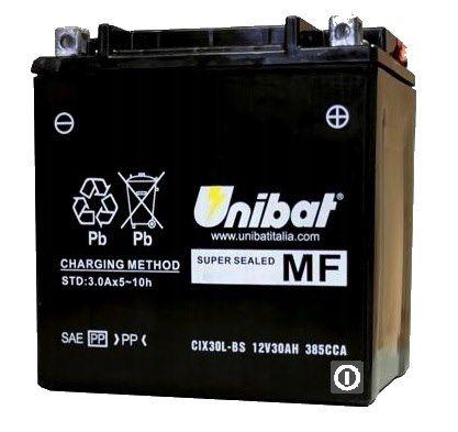 Akumulator UNIBAT AGM CIX30L-BS YIX30L-BS YTX30L-BS AGM12-31 30Ah 385A