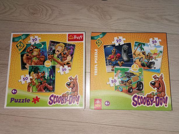 Puzzle Scooby Doo dwa zestawy