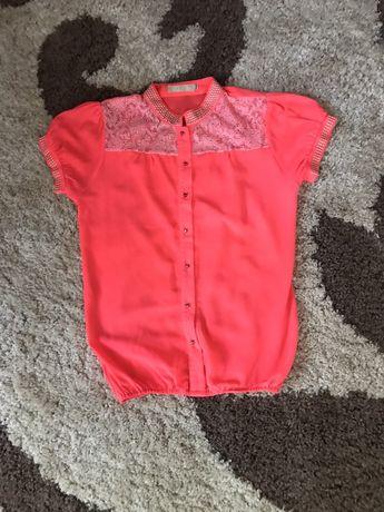 Яркая неоновая блуза