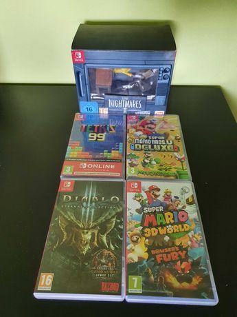 Nintendo Switch - 4 gry (2xMario,Tetris+Little Nightmares 2 kolekc.)