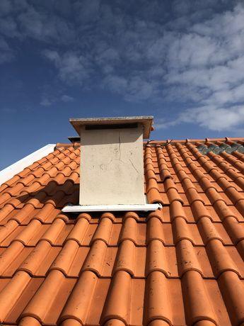 Limpeza de telhados caleiros