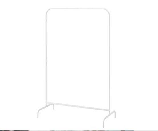 Suporte para cabides, branco 99x152 cm