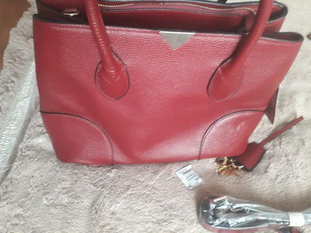 Нова сумка, кожа красная